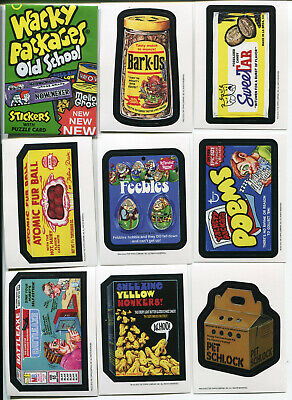 Wacky Packages Old School Series 4 Set 33 Cards Plus 9 Card Puzzle & Wrapper