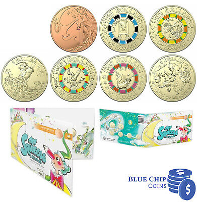 2019 RAM 60th Anniversary Mr Squiggle and Friends Seven Coin Collection Set
