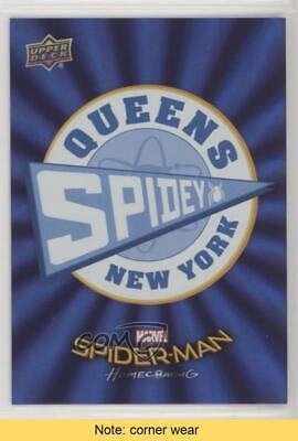 2017 Upper Deck Spider-Man Homecoming Wal-Mart Exclusive Blue Foil READ Card 4r3