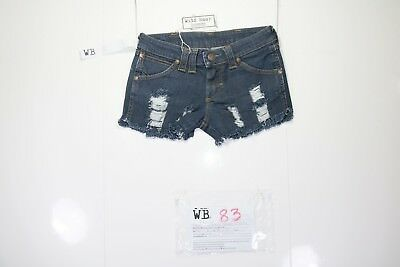 Wrangler Lia Short Customized (cod. WB83)jeans Tg.40 W26 DONNA Streetwear Remake