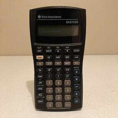 Texas Instruments BA II Plus Financial Analyst Calculator No Cover