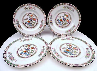 "Wedgwood England 4 Pc Kutani Crane Birds & Floral 6 1/8"" Bread & Butter Plates"
