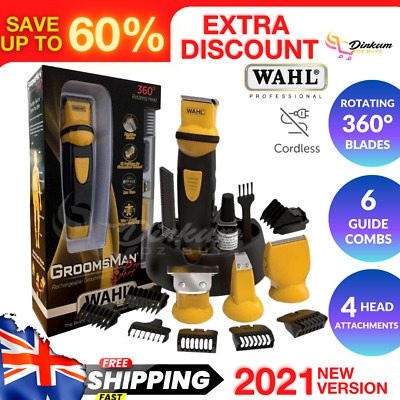 Wahl Sport Pro Cordless Beard Trimmer Rechargeable Clipper Body Hair Groomer