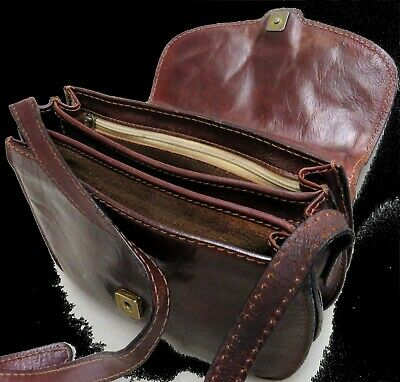THE BRIDGE Schultertasche LEDERTASCHE Abendtasche FIRST CLASS Tasche LEDER Top#
