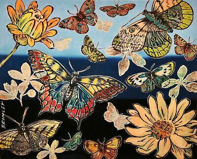 "DAVID BROMLEY ""Butterflies I"" Printers Proof Silkscreen PP 28cm x 35cm"