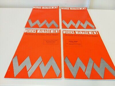 4 X Works Management Journal Institution of works managers magazines 1969