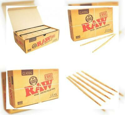 RAW Classic Natural Unrefined Pre-Rolled 800 Cone Box - Lean Size 100mm (4.3 in)