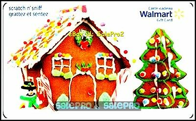 Walmart Gingerbread Lodge & Christmas Tree #Fd29411 Collectible Gift Card