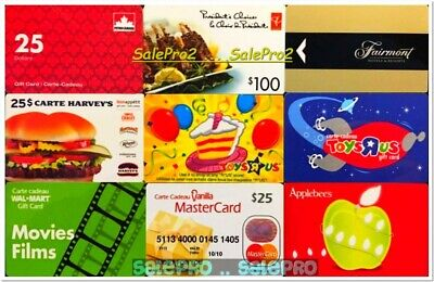 3x HARVEY'S TOYSRUS APPLEBEE'S YOU CHOOSE 3 for $2.95 Collectible Gift Card LOT