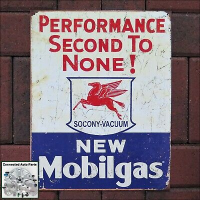MOBILGAS SOCONY VACUUM Tin Sign Gas Station Gasoline Man Cave Garage Shop S-1725