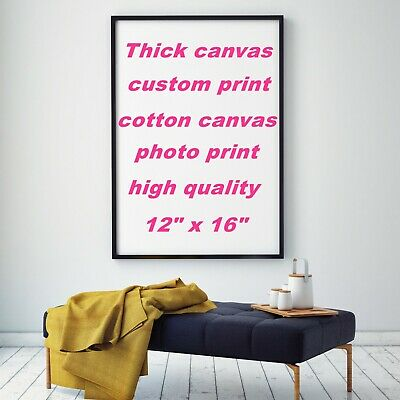 """Custom Poster Thick Canvas Real Cotton Canvas HD Print Photo Gift Unframe 12x16"""""""