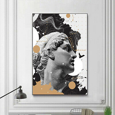 FACES BLACK WHITE MAKE UP Canvas Wall Art Abstract Picture Large  AB228 MATAGA .