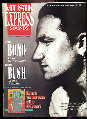 MUSIK EXPRESS Sounds  Nr. 12  1989  :  U2  Bono   Kate Bush    Sting