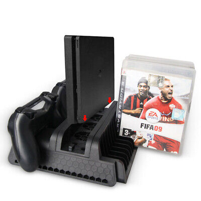 All-In-One Vertical Stand Cooling Station Dock Charger Holder For PS4 PRO/Slim