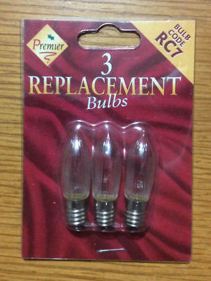 X1 PACKS INDOOR FAIRY XMAS LIGHT 2.5V 0.25W PUSH IN X6 BULBS PACK S7 FREE P/&P