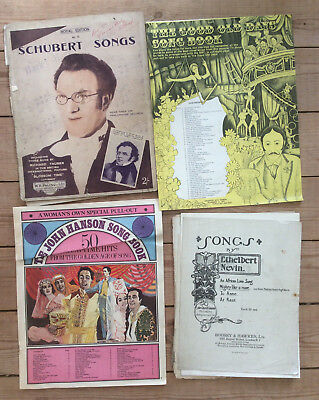 Vintage Piano & Vocal Songs, Schubert Nevin Musicals, 1920s-1950s Sheet Music