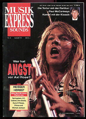 MUSIK EXPRESS Sounds  Nr. 8  1991 : Axl Rose   Paul McCartney   Sinead O'Connor