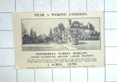 1936 Near A Woking Common, Eight Bedrooms 2 Acres, £2750