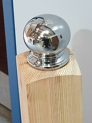 AXXYS Chrome or Brushed Stair Newel Post Ball Cap End Of Line