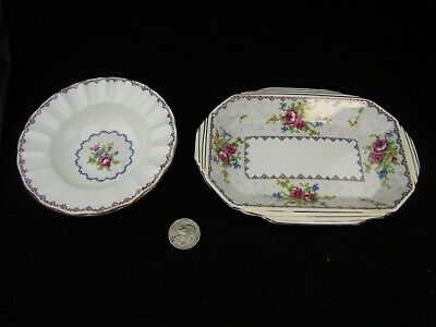 2 Pc Royal Albert Petit Point  Ashtray And Sweet Meat Dish