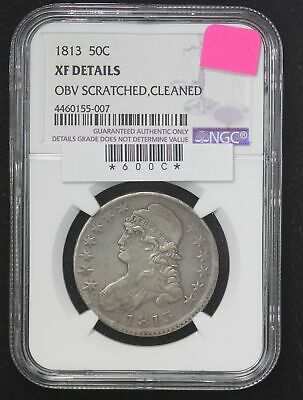 1813 Capped Bust Half Dollar NGC XF Details Cleaned