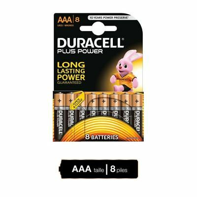 DURACELL Piles Plus Power AAA X8