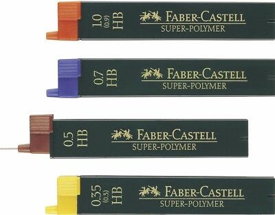 Pencil Leads Faber-Castell Superpolymer Fineline B,HB,2b 0.35,0.5,0.7,1.0,1.4 mm