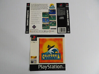 * Ps1 * California Surfing * Front & Rear Inlays Only * Retro Gamer