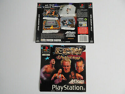 * Ps1 * Anarchy Rulz Ecw * Front & Rear Inlays Only * Retro Gamer