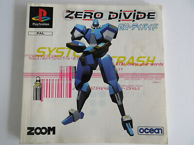 * Ps1 * Zero Divide * Manual Only * Retro Gamer