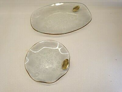Chance Glass Fiesta Ware 25th Silver Wedding Anniversary Vintage Plate Buy One Get One Free Glass