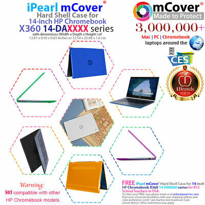 """NEW CLEAR mCover® HARD CASE for 14"""" HP Chromebook X360 14-DAxxxx series Laptop"""