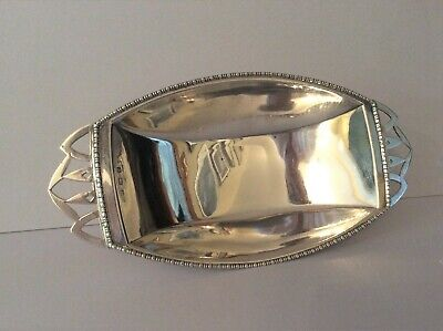 Antique Solid Silver Art Deco Tray