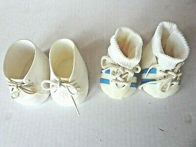 TWO PAIRS of Vintage 1980's Cabbage Patch Kids Shoes + one pair of Socks, EUC!