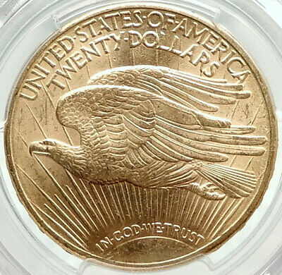 1910 D UNITED STATES US Saint Gaudens Gold Double Eagle Coin PCGS MS 64 i75900