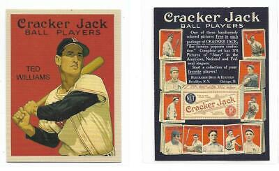"TED WILLIAMS -BOSTON RED SOX  "" CRACKER JACK"" Vintage Style Card .Buy 2..."
