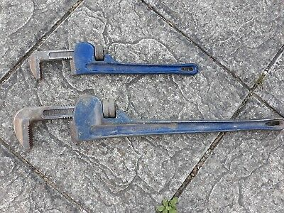 "2 Of 14"" & 24"" Inch  Quality Drop Forged Wrench Stilsons"
