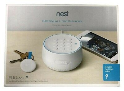 Nest Secure Alarm System with Cam Indoor 1080p Security Camera - White