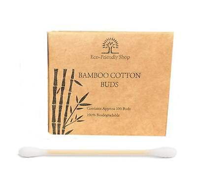 Cotton Buds Bamboo 200 - 800 Natural Wooden Ear Makeup Buds Eco Friendly