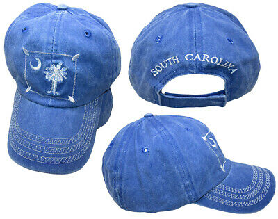 b1a7ff08 South Carolina Palmetto Patch Faded Blue Washed Embroidered Hat Cap (RUF)