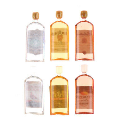 1:12 Dollhouse Home Decor 6x Doll House Miniature Accessories Bottles VGYT