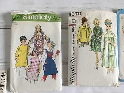 Lot Of 12 Vintage Sewing Patterns 50s 60s 70s 80s Simplicity McCalls Butterick