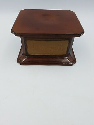 Chinese Shiwan Brown Clay Pottery Square Vase/Figurine/Pot Display Stand Base