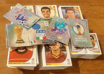 PANINI KOREA JAPAN 2002 - 100 figurine diverse 100 different stickers - WC WM 02