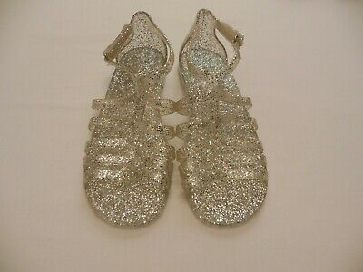 a1ea235d5bca The Children s Place TCP Clear Glitter Jelly Sandals Jellies Girls Size 4