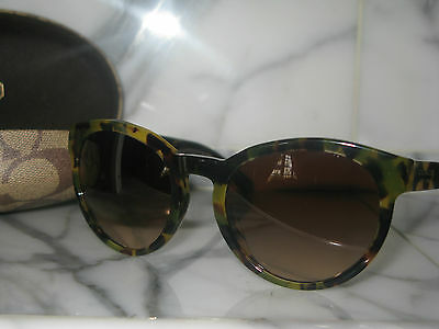 a215f1c7a770e Coach Women s Dark Vintage Tortoise  Kylie  Sunglasses with Case   Cloth.