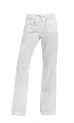 Chaps by Ralph Lauren Misses White Cargo Linen Wide Leg Pants Misses 6