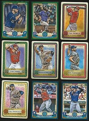 2019 Topps Gypsy Queen Inserts + Green & Blue Border Parallels--U Pick From List