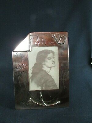 Aesthetic Movement Engraved Brass Photograph Frame c.1890-1900