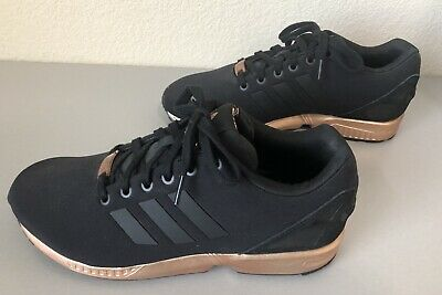 afd97ede6e110 Womens Adidas Zx Flux Core Black Copper Rose Gold Bronze S78977 Limited  Edition